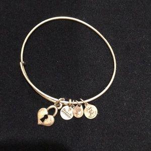 Alex and Ani Heart Keyhole Charm Bracelet